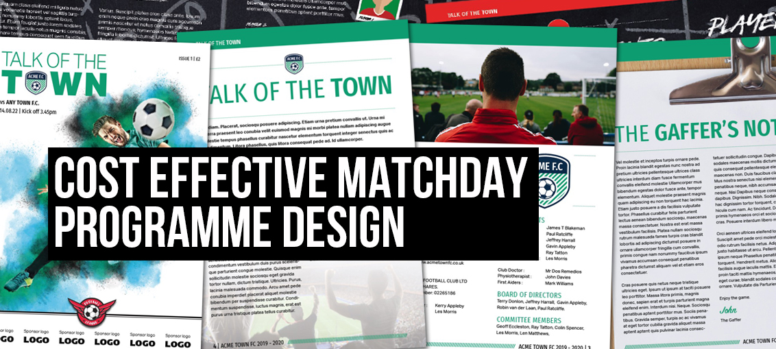 Cost Effective Matchday Programme Design