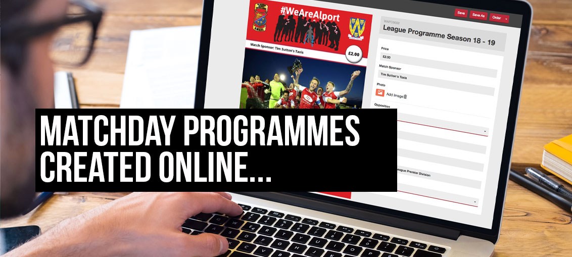 Printed Matchday programmes-created-online-blog