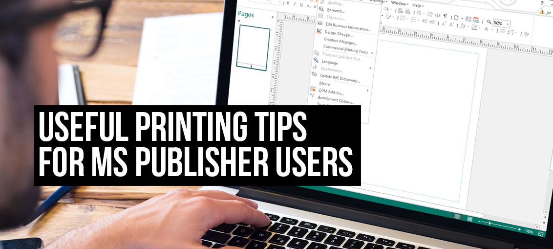 Publisher Tips for creating a programme